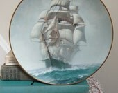 Vintage Collector's Clipper Ship Plate