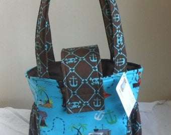 Small Pirate Skull Toddler Short Trip Diaper Bag Adorable