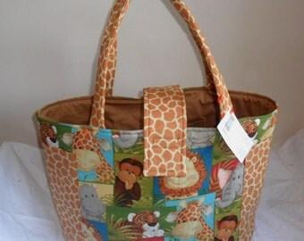 Large Jungle Babies Diaper Bag Tote New Print