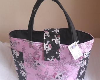 Pink Girly Skull Diaper Bag/Tote Too Cute
