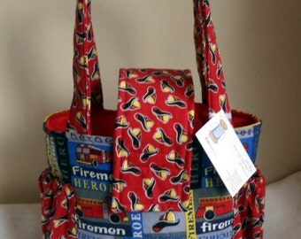 Small Firefighter Firetruck Fireman Short Trip Toddler Diaper Bag