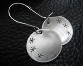 Asterisk  Silver Earring