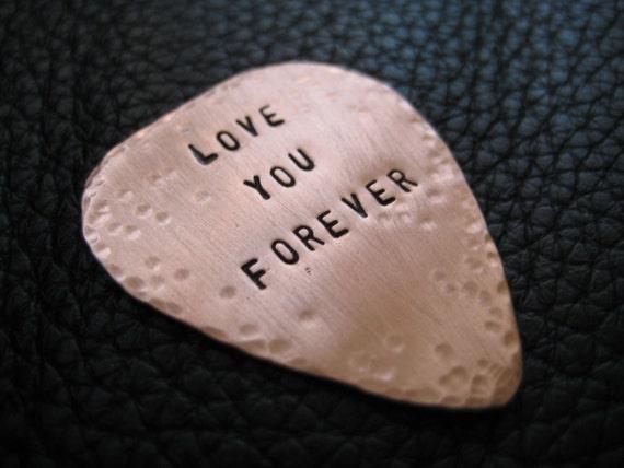 Valentine Hand Stamped Guitar Pick