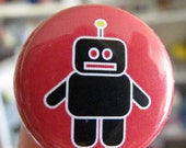 Robot on Red Button (or Magnet)