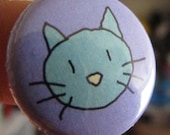 Kitty Face Button (or Magnet)