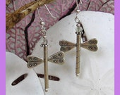 ITEM OF THE DAY  Hill Tribe Silver Dragonfly Earrings with Green Amethyst Rondelles