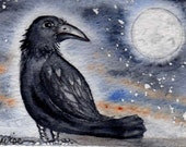 Crow moon - greeting card - MHA