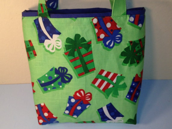 Gift Packages, Gift Tote Bag, Gift Wrap, Reusable, Small Cotton Tote, Christmas, Wrapping Paper, Holidays