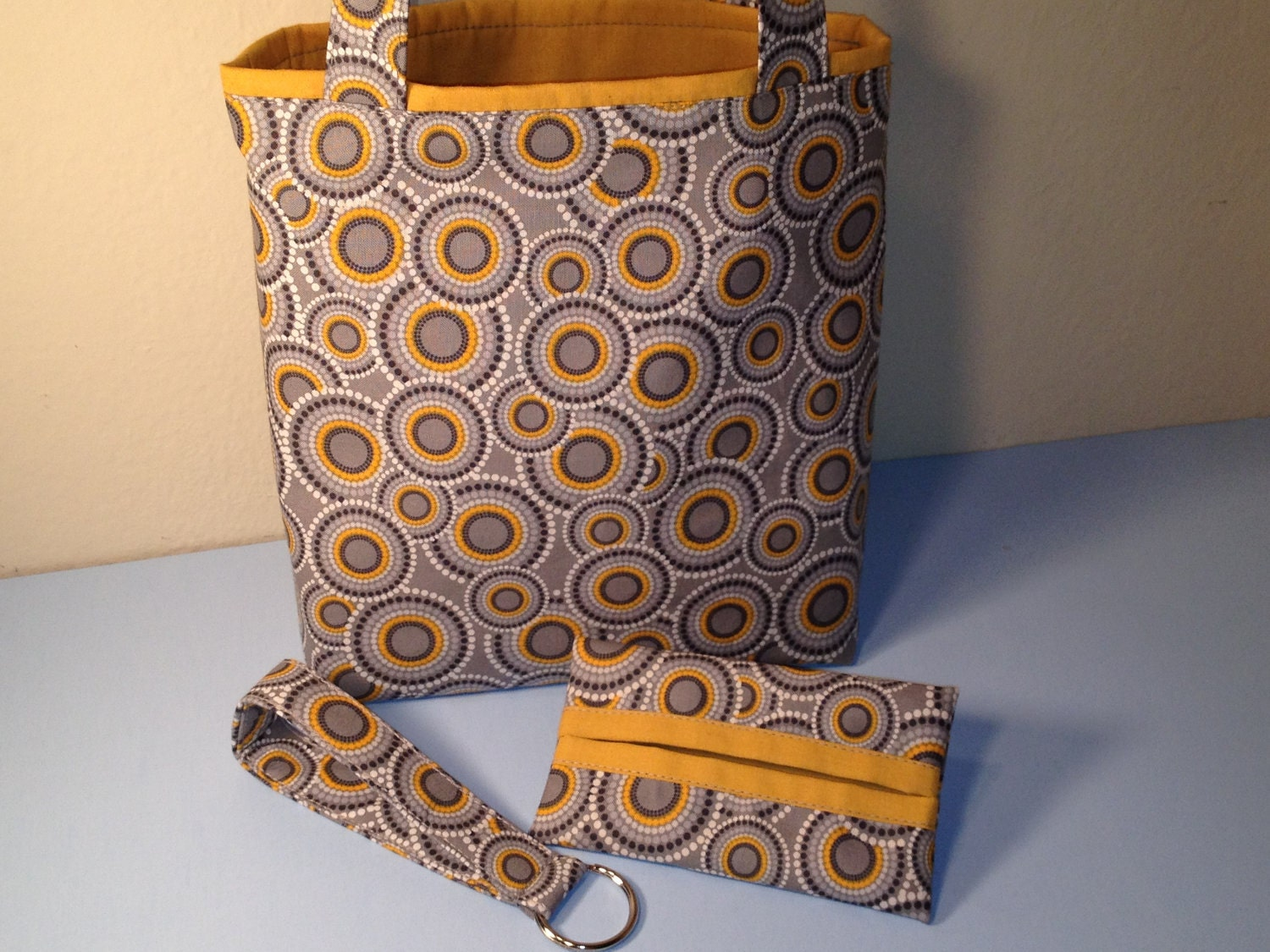 Gift Bag Set African Print Fabric Gift Tote Key By