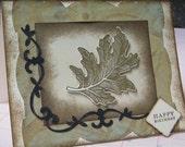 Gold Leaf Birthday Card