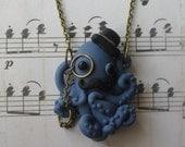 Dapper Octopus necklace - Blue