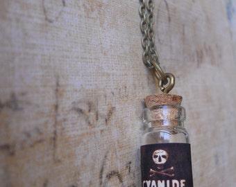 Cyanide Poison bottle necklace