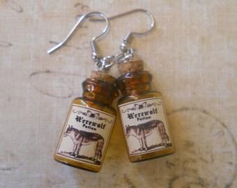 Werewolf potion earrings