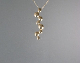 Brass Helix Pendant with 14kt Yellow Gold Chain