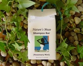 Moisturizing Shampoo and Body Bar, Vegan,  Rosemary Mint, 5 to 6 oz bar, only essential oils in bar
