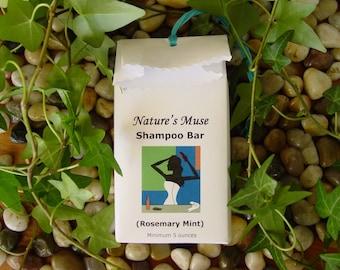 Moisturizing Shampoo and Body Bar, Vegan,  Rosemary Mint, 5 to 6 oz bar, only essential oils in bar