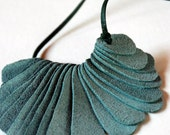 Recycled Leather Necklace Digit by Mainichi