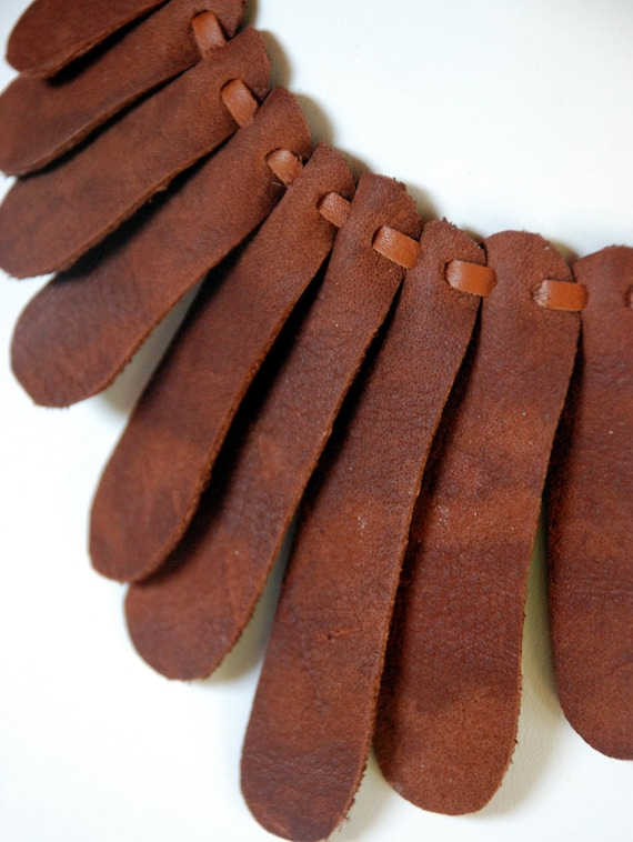 Sensu Recycled Leather Necklace