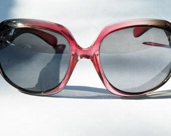 vintage 80s oversized ombre sun glasses