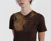 SALE Skull t-shirt Brown