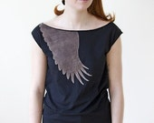 Wing Tunic (black only) size M, L, XL