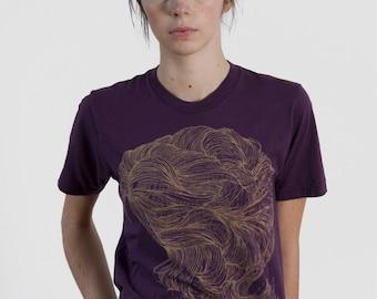 SALE Hair T-shirt Purple