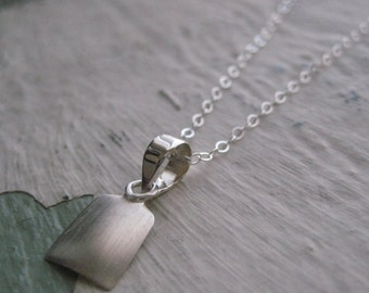Delaney Necklace- Sterling Silver, Charm, Pendant, Simple Everyday Jewelry