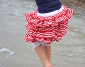 Nautical Ruffle Skirt Outfit - Sizes 6mth 9mth 12mth 18mth 2T 3T 4T 5T 6yr