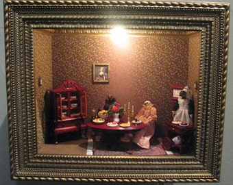 LOVED TO DEATH Taxidermy Memento Mori Art Diorama Let Them Eat Cake