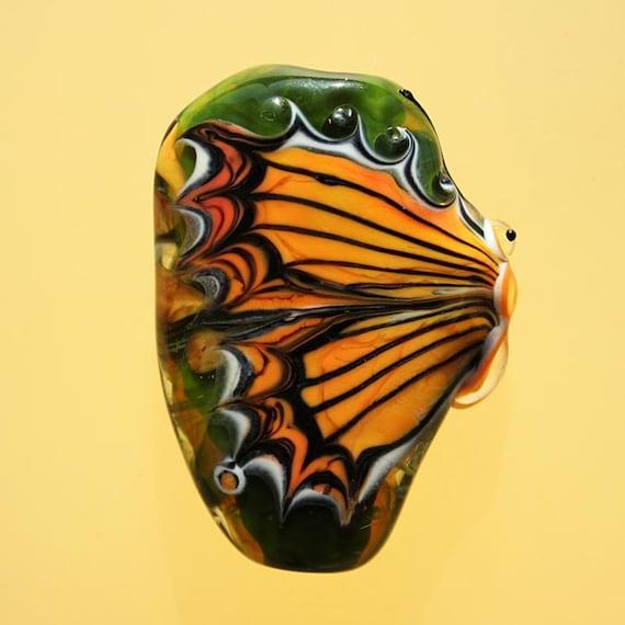 Sunbeam Butterfly - Handmade Lampwork Bead (SRA)