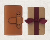 Leather Journal Cover Pocket Size in Tan