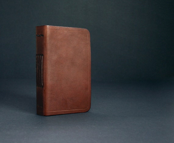 Leather Journal Pocket Size in Brown with Free Monogramming