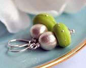 Earrings - Glass Lampwork beads - Sterling silver