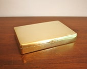 Vintage brass cigar box with lid