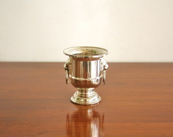 Vintage silver plated toothpick holder or bud vase, marked Eales