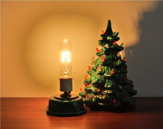 Vintage 1960s Ceramic Christmas Tree Electric