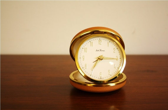 Vintage Round Seth Thomas Travel Clock Made In Germany