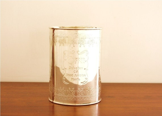 Silver plated COFFEE container with lid