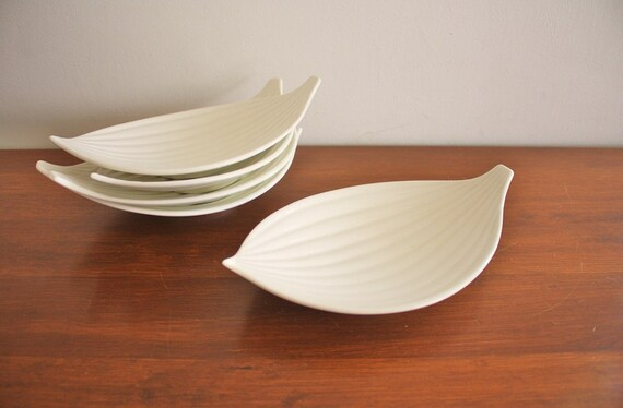 1960s set of 5 Ernest Sohn Creations mod ceramic dishes