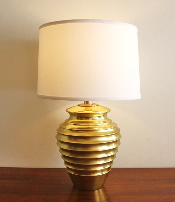 Modern vintage brass table lamp