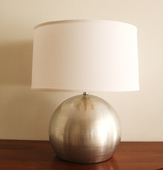Midcentury modern aluminum table lamp
