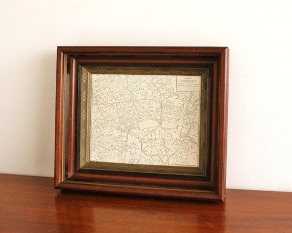 Vintage framed map of London