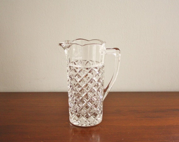 Vintage leaded crystal pitcher, vase