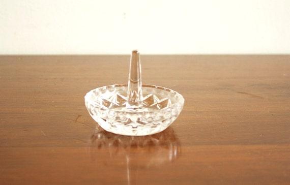 Vintage crystal ring dish