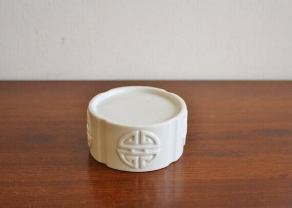 Vintage white porcelain pedestal base