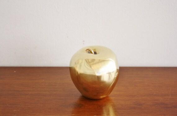 Large vintage brass apple