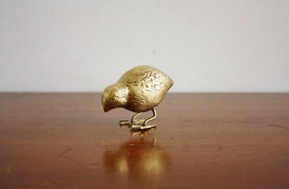 Vintage brass bird