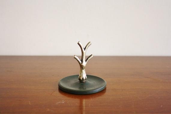 Vintage brass ring tree