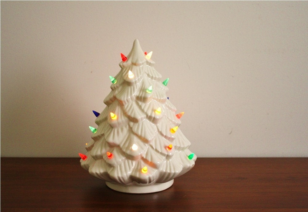 Vintage 1960s Ceramic Christmas Tree Electric