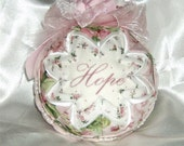 Love And Hope Breast Cancer Awareness Quilt Ornament